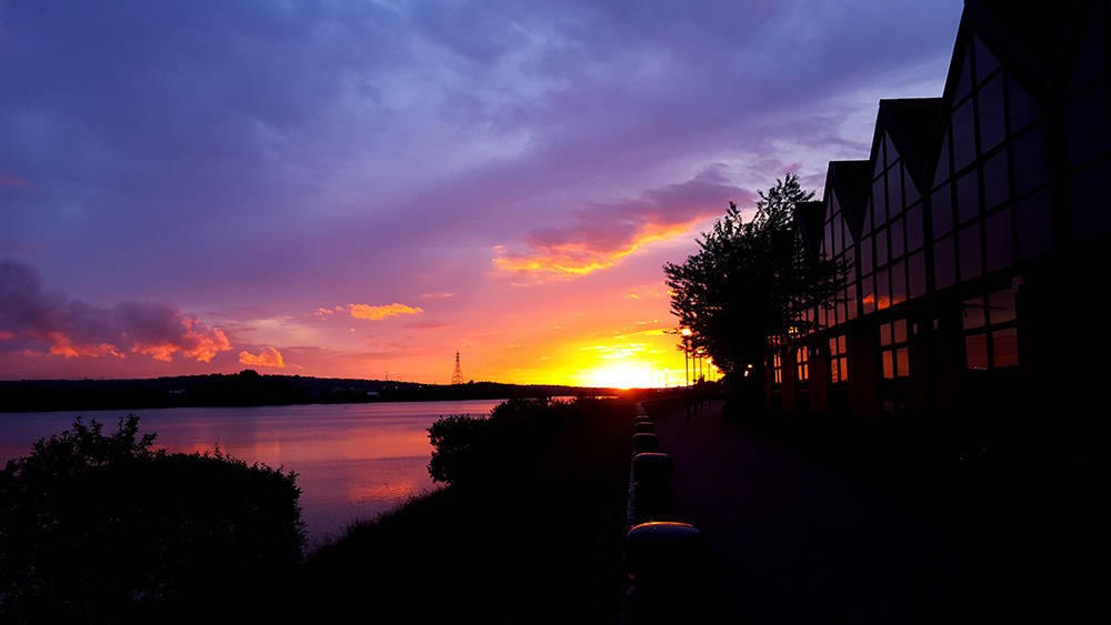 Sunset over the River Tyne Sept 2015