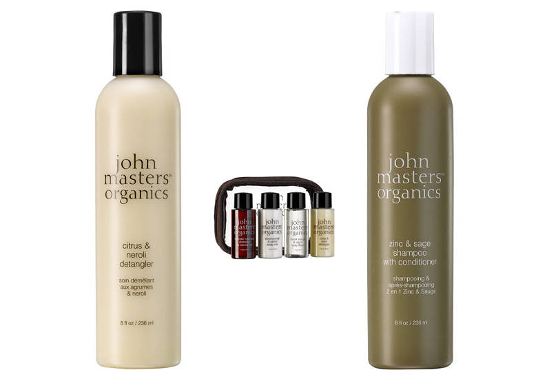 John Masters Shampoo, Detangler and travel set
