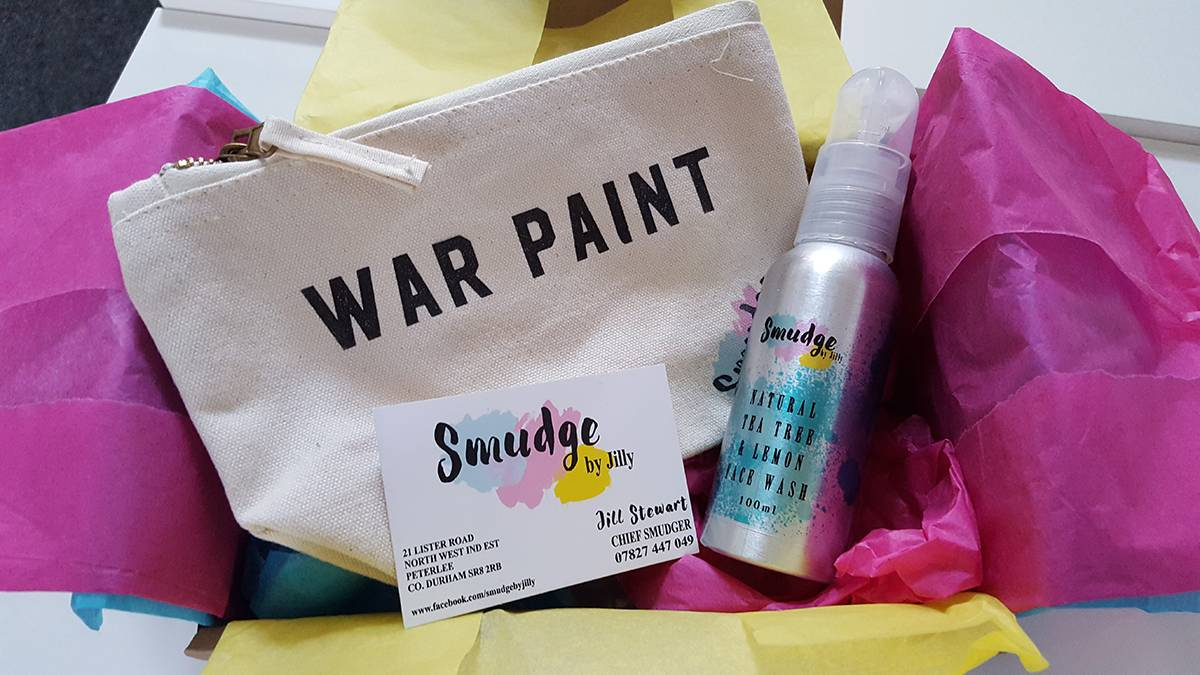 War Paint Makeup bag from Smudge by Jilly