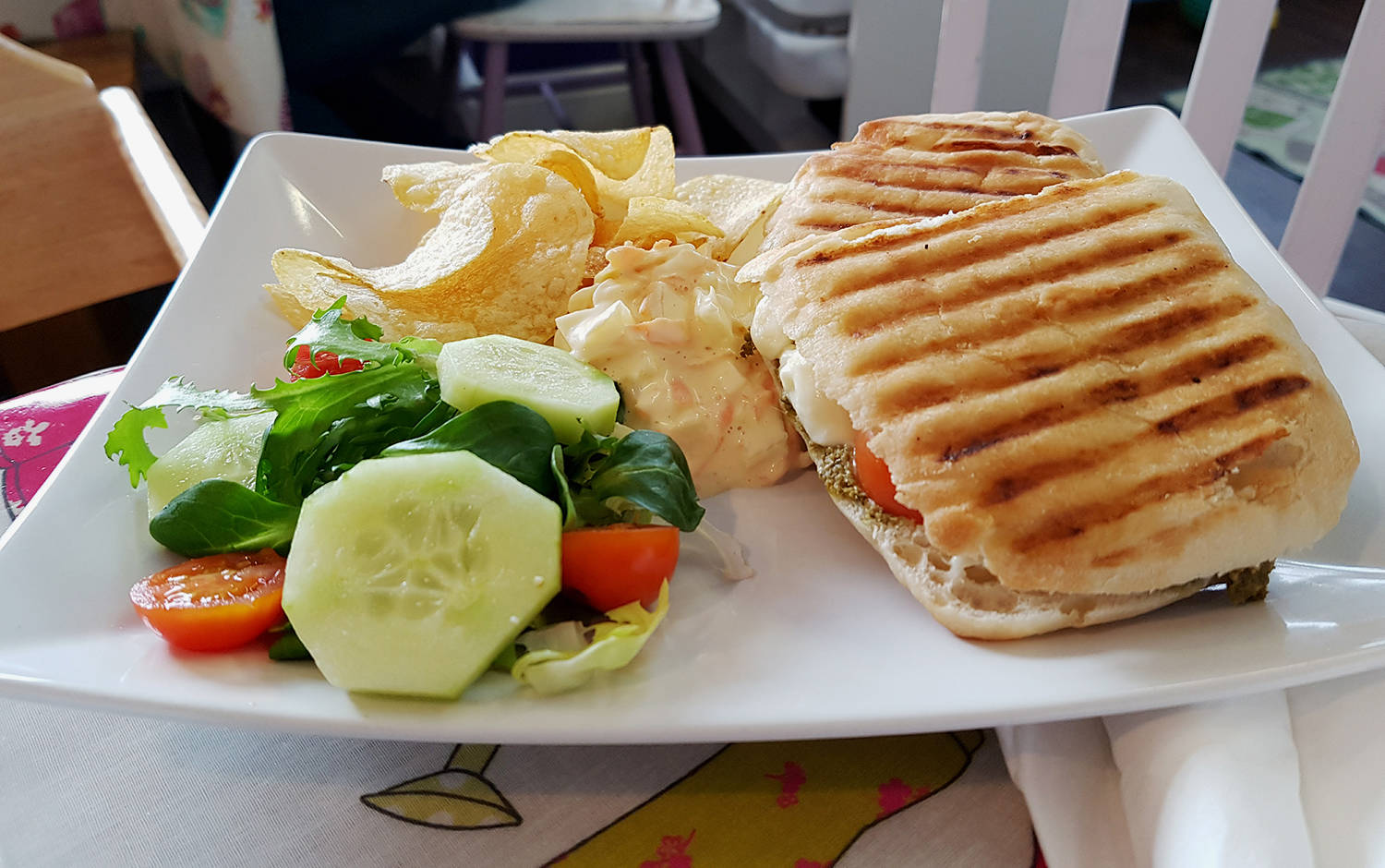 Panini at Keepers cafe